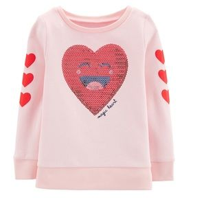 Carter's sequin heart sweatshirt